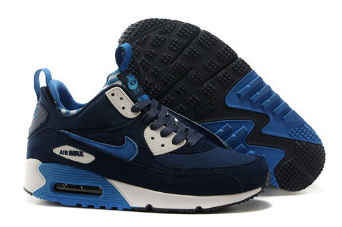 Nike Air Max 90 Sneakerboots Prm Undeafted Mens Shoes Dark Blue White Special Review