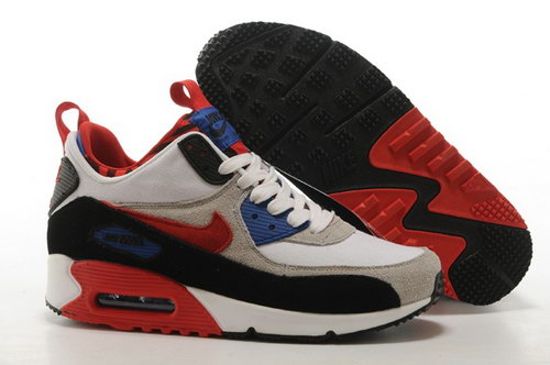 Nike Air Max 90 Sneakerboots Prm Undeafted Mens Shoes Light Gray Red Black Special Factory Outlet