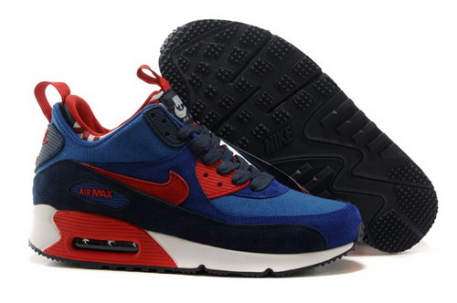 Nike Air Max 90 Sneakerboots Prm Undeafted Mens Shoes Ocean Blue Red Special Inexpensive