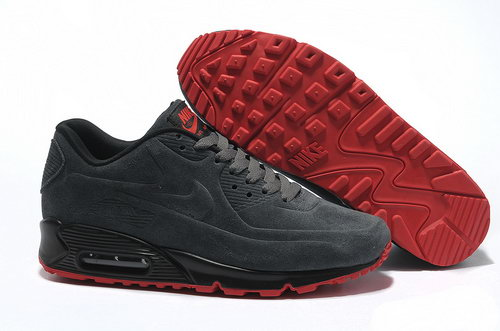 Nike Air Max 90 Vt Men Gray Red Running Shoes Usa