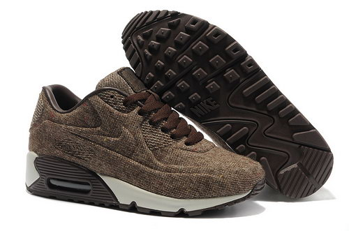 Nike Air Max 90 Vt Unisex Brown White Running Shoes Outlet