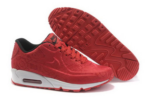 Nike Air Max 90 Vt Womens Shoes China Red Low Cost