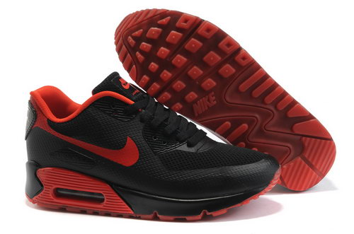 Nike Air Max 90 Womens Black Red Wholesale