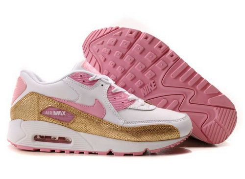Nike Air Max 90 Womens Gold White Pink Portugal