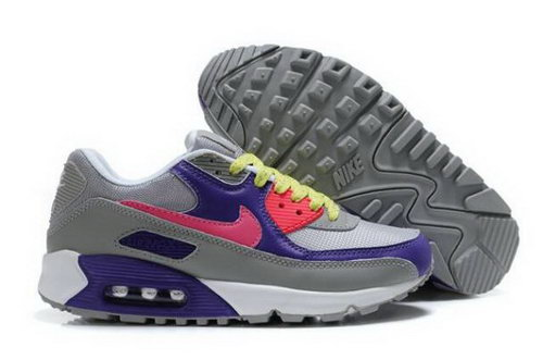 Nike Air Max 90 Womens Shoes Cool Grey Club Purple Pink Volt Netherlands