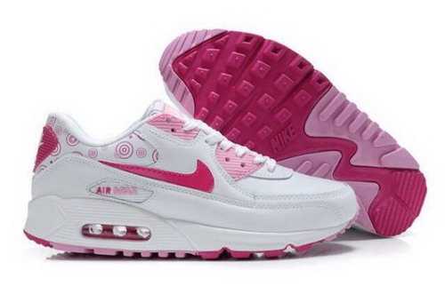 Nike Air Max 90 Womens Shoes White Pink Denmark