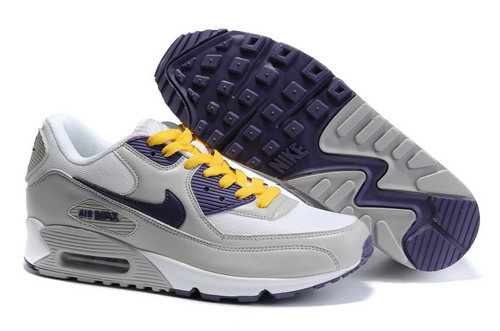 Nike Air Max 90 Womens Yellow Blue Grey Online