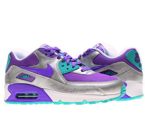 Nike Air Max 90 Womens Shoe Silver New Purple Special Online Shop