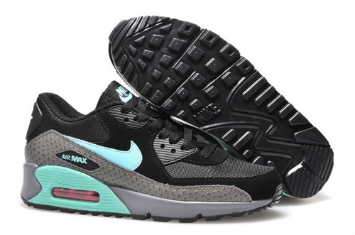 Nike Air Max 90 Womens Shoes 2015 New Releases Black Deep Gray Silver Green Germany