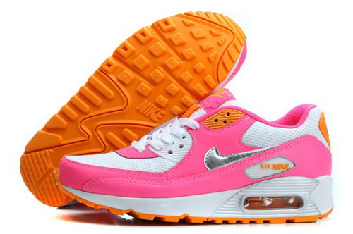 Nike Air Max 90 Womens Shoes Baby Pink White Silver New Poland