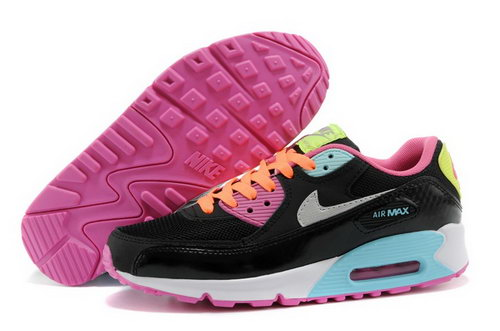 Nike Air Max 90 Womens Shoes Black Colored Silver Coupon Code