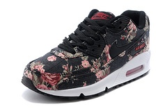Nike Air Max 90 Womens Shoes Black Flower Speclai White On Sale