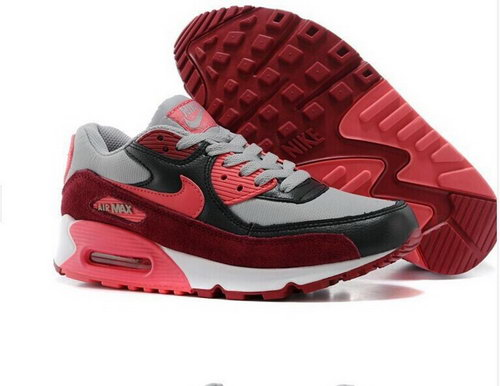 Nike Air Max 90 Womens Shoes Black Gray Red Special Wholesale