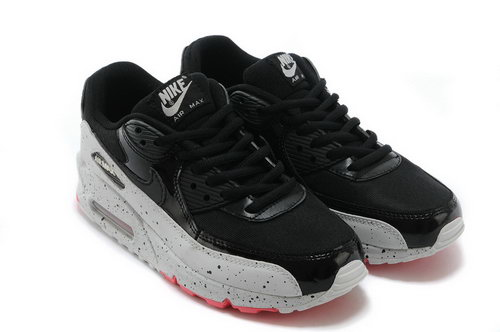 Nike Air Max 90 Womens Shoes Black White Red New Usa