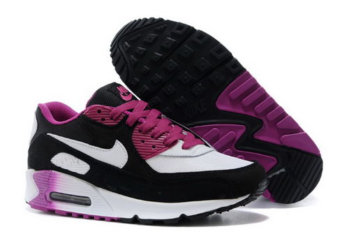 Nike Air Max 90 Womens Shoes Black White Rose Red Special Australia