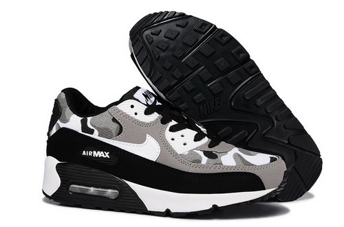 Nike Air Max 90 Womens Shoes Camo Light Brown White Black Clearance