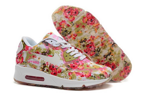 Nike Air Max 90 Womens Shoes Flower Yellow White Special Germany