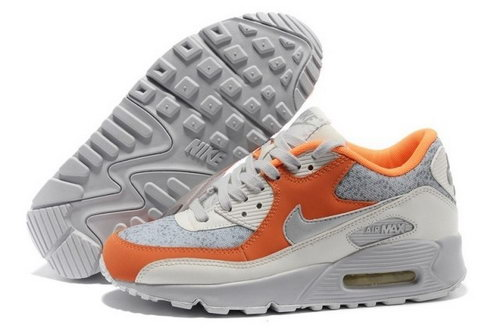 Nike Air Max 90 Womens Shoes Gray Orange Best Price