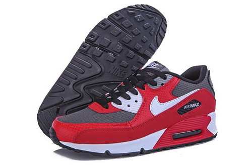Nike Air Max 90 Womens Shoes Hot Red Gray White Spain