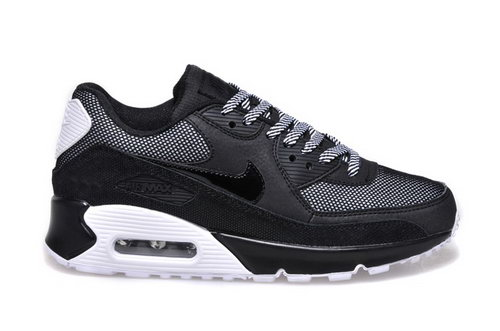 Nike Air Max 90 Womens Shoes Hot New All Black White Gray China