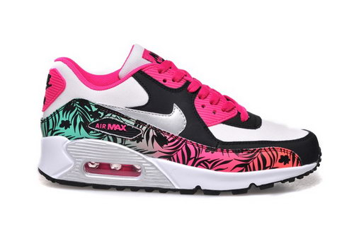 Nike Air Max 90 Womens Shoes Hot New Colored Green Red Silver On Sale