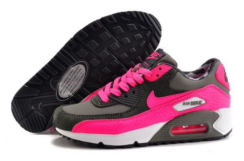 Nike Air Max 90 Womens Shoes Hot New Pink Gray White Reduced