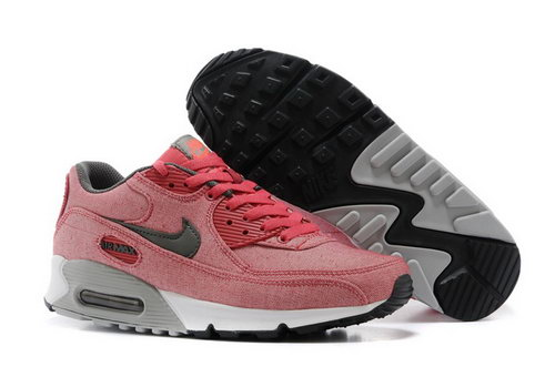 Nike Air Max 90 Womens Shoes Light Peach Red Gray New Review
