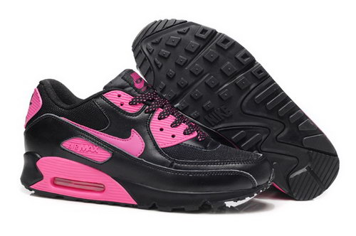 Nike Air Max 90 Womens Shoes New Black Rosa Factory