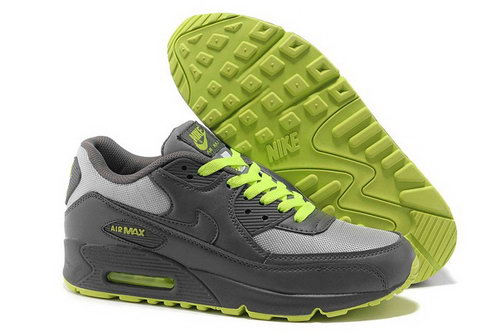 Nike Air Max 90 Womens Shoes New Grey Green Italy
