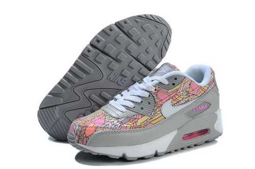 Nike Air Max 90 Womens Shoes New Grey Pink Online Coupon