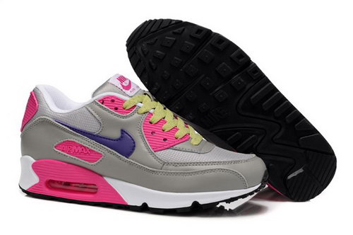 Nike Air Max 90 Womens Shoes New Grey Pink Sweden