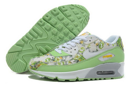 Nike Air Max 90 Womens Shoes New White Green For Sale