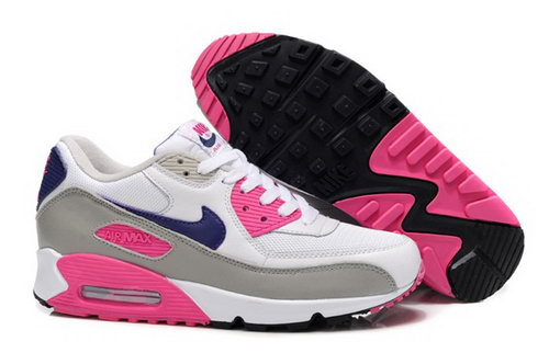 Nike Air Max 90 Womens Shoes New White Pink Grey Online Store