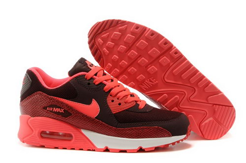Nike Air Max 90 Womens Shoes Red Black Hot Special Korea