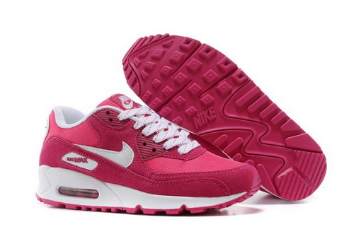Nike Air Max 90 Womens Shoes Rose Red White Hot Czech