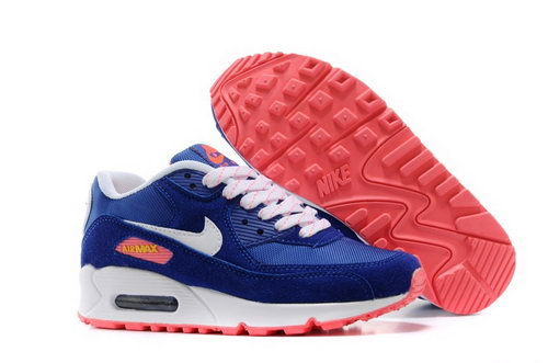 Nike Air Max 90 Womens Shoes Rose Royal Blue White Orange Netherlands