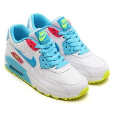 Nike Air Max 90 Womens Shoes Special Hot White Sky Blue Yellow Pink Low Cost