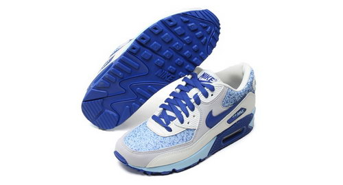 Nike Air Max 90 Womens Shoes White Blue Best Price