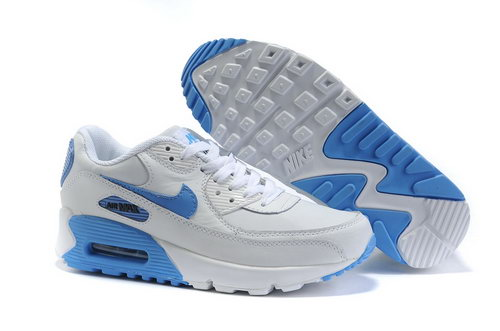 Nike Air Max 90 Womens Shoes Wholesale Azure White Denmark
