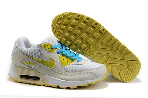 Nike Air Max 90 Womens Shoes Wholesale Beige White Yellow