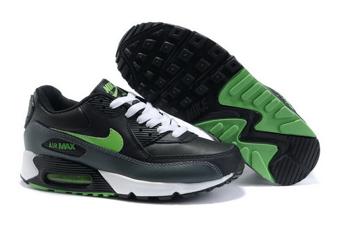 Nike Air Max 90 Womens Shoes Wholesale Black Green Outlet Online