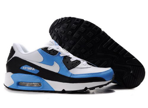 Nike Air Max 90 Womens Shoes Wholesale Black White Blue Ireland