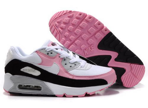Nike Air Max 90 Womens Shoes Wholesale Black White Pink On Sale