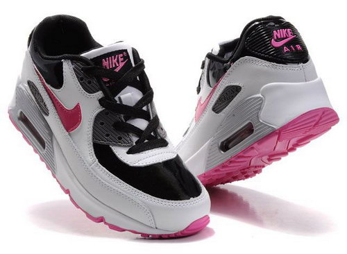 Nike Air Max 90 Womens Shoes Wholesale Black White Red Greece