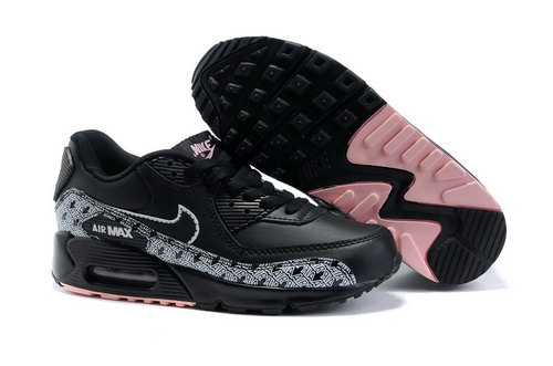 Nike Air Max 90 Womens Shoes Wholesale Black White Reduced