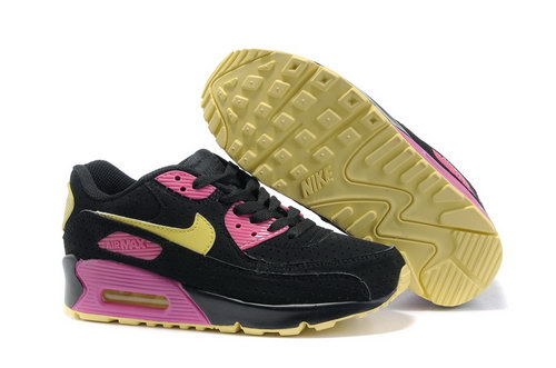 Nike Air Max 90 Womens Shoes Wholesale Black Yellow Pink Online
