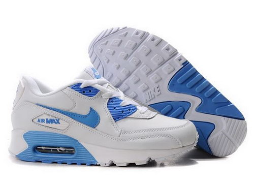 Nike Air Max 90 Womens Shoes Wholesale Blue White France