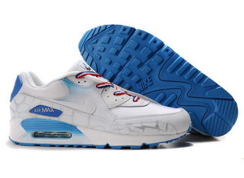 Nike Air Max 90 Womens Shoes Wholesale Deepskyblue White Norway