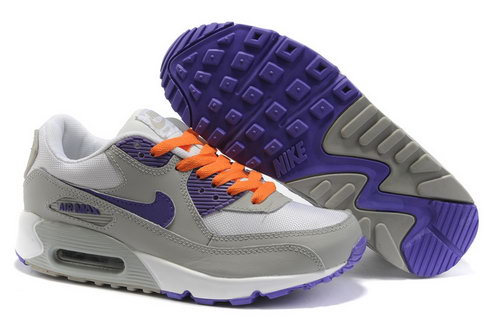 Nike Air Max 90 Womens Shoes Wholesale Purple Gray Orange Low Price
