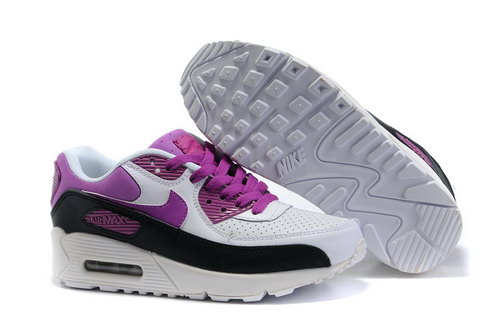 Nike Air Max 90 Womens Shoes Wholesale Purple White Black Italy